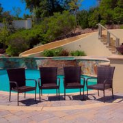 Outdoor Stackable Arm Club Chairs - Set of 4