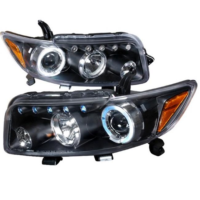 Spec-D Tuning 2LHP-XB08JM-TM Halo LED Projector Headlights for 08 to 10 Scion XB, Black - 10 x 20 x 25 in.