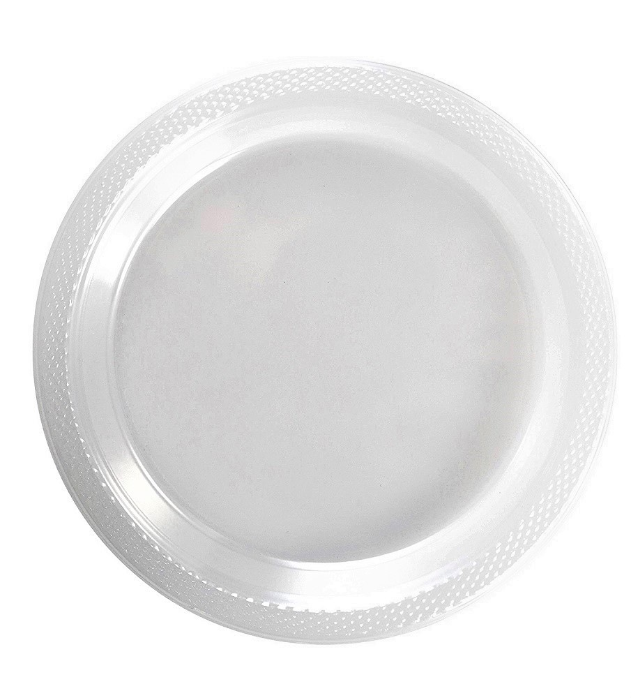 Exquisite 10  Disposable Plastic Plates Bulk - 100 Count Party Pack - Premium Plastic Disposable  sc 1 st  Walmart & Exquisite 10