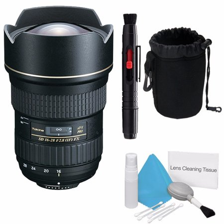 Tokina 16-28mm f/2.8 AT-X Pro FX Lens for Nikon (International Model) No Warranty + Deluxe Cleaning Kit + Lens Cleaning Pen + Deluxe Lens Pouch Bundle