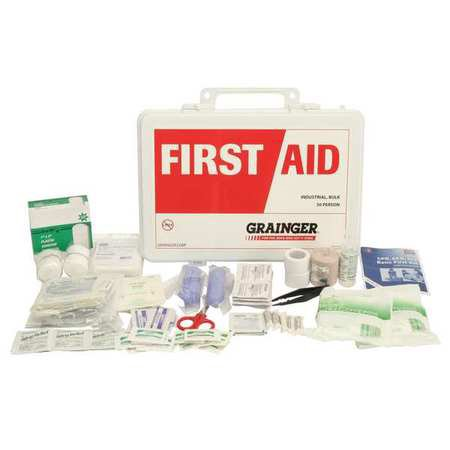 Z019830 First Aid Kit  Bulk  White  22 Pcs  50 Ppl