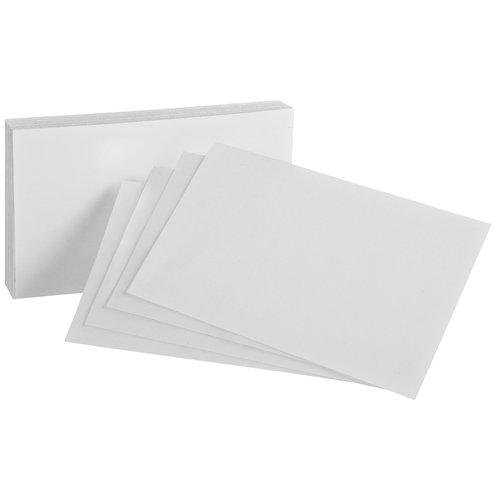 Blank Index Cards, 4x6, 100ct - Walmart.com