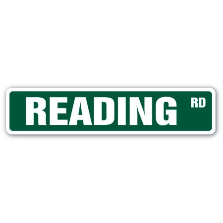 Reading Street Sign Lover Books Library Kindle Nook Reader Education Gift
