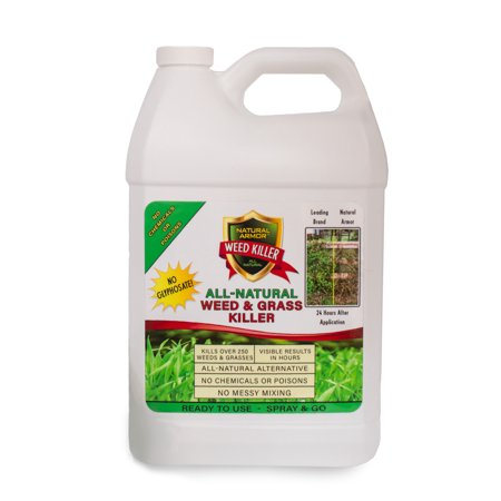 Half Gallon Concentrate - Natural Armor Weed & Grass Killer All-Natural Concentrated Formula. Contains No Glyphosate. 128-Ounce Gallon REFILL