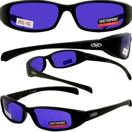 NEW ATTITUDES - Stylish Sunglasses - PURPLE Lenses, GLOSS Black (Attitude Sunglasses)