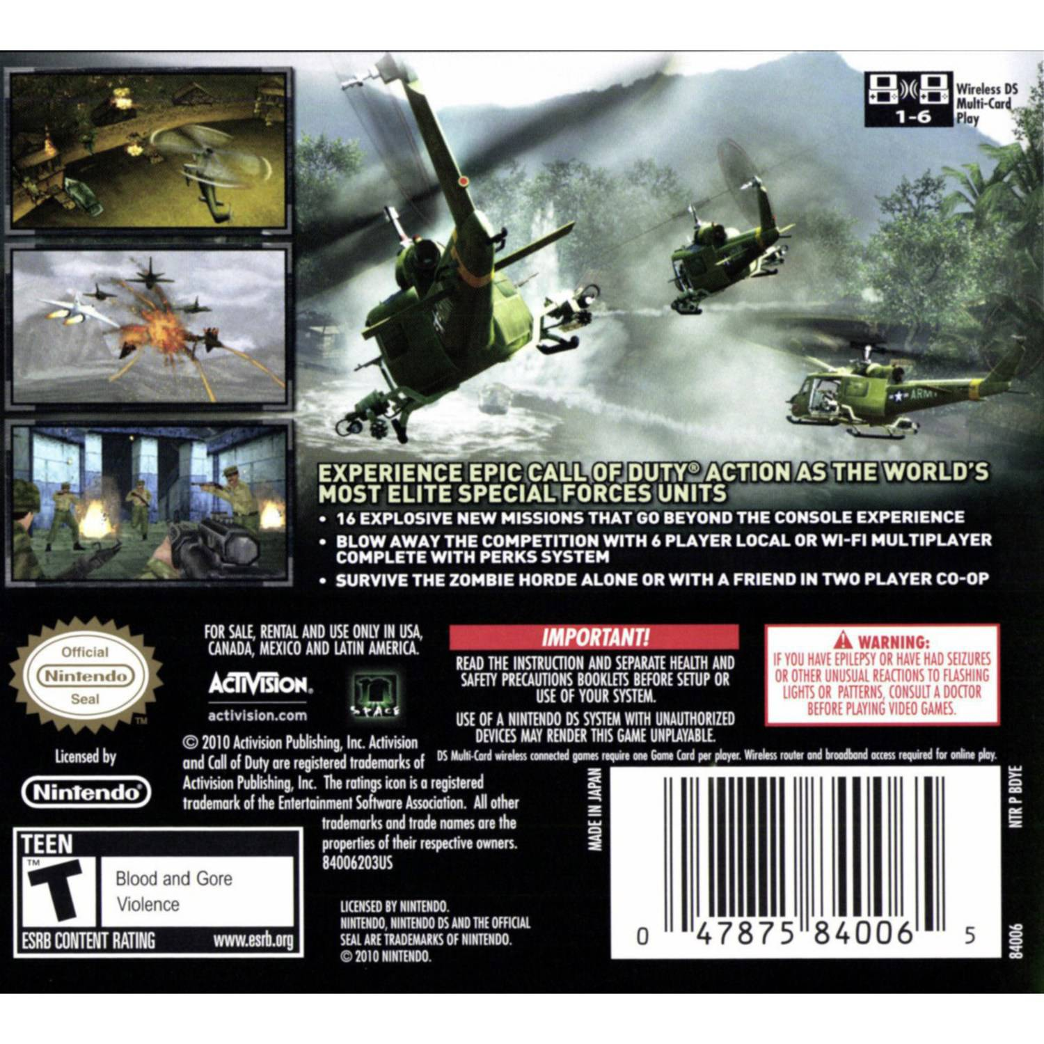 call of duty: black ops (ds) - walmart