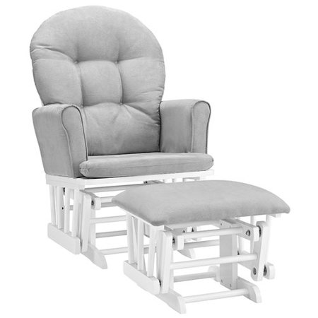 Angel Line Brookside Semi-Upholstered Glider and Ottoman