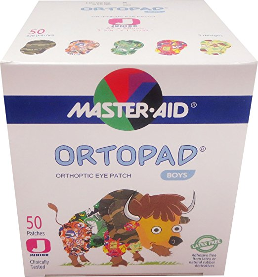 Ortopad Boys Eye Patches - Junior Size (50 Per Box)