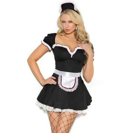 Adult Maid to Please Plus Sexy Costume - Size 1X2X