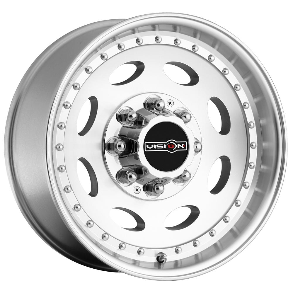 "19.5"" Inch Vision 81 Heavy Hauler 19.5x7.5 8x170 +0mm Machined Wheel Rim"