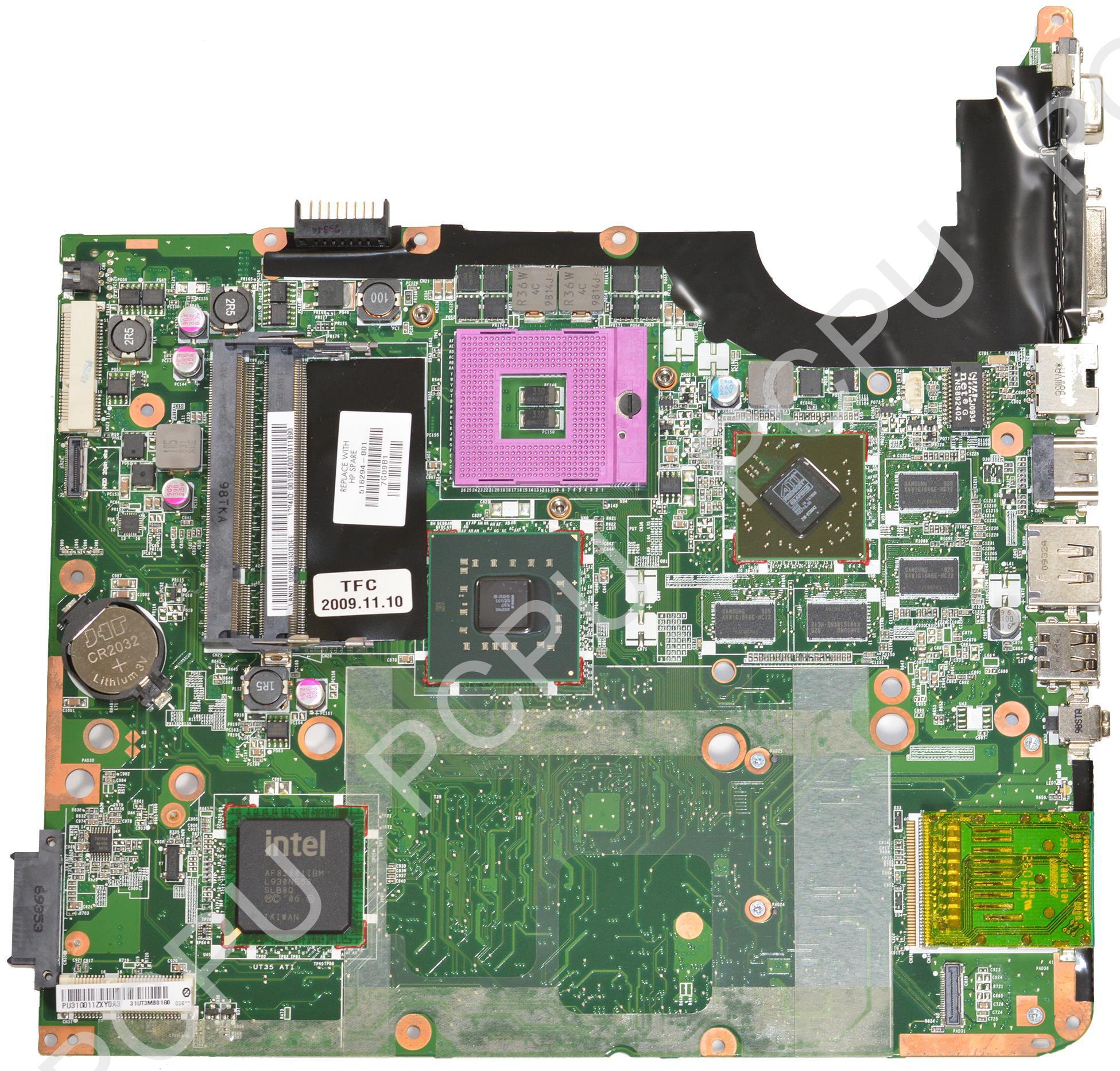 516294-001 HP DV7 Intel Laptop Motherboard