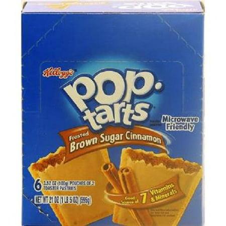 Product Of Kelloggs Pop Tart, Brown Sugar Cinnamon, Count 6 (3.52 oz) - Granola/Cereal/Oat/Brkfast Bar / Grab Varieties &