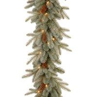 9' Pre-Lit Artificial Christmas Garland - Clear Lights
