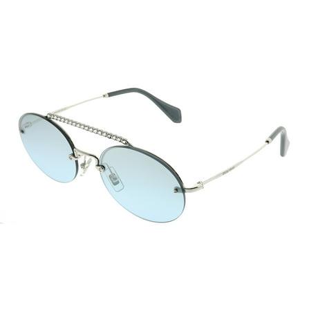 Miu Miu  MU 60TS 1BC096 Womens  Oval Sunglasses ()