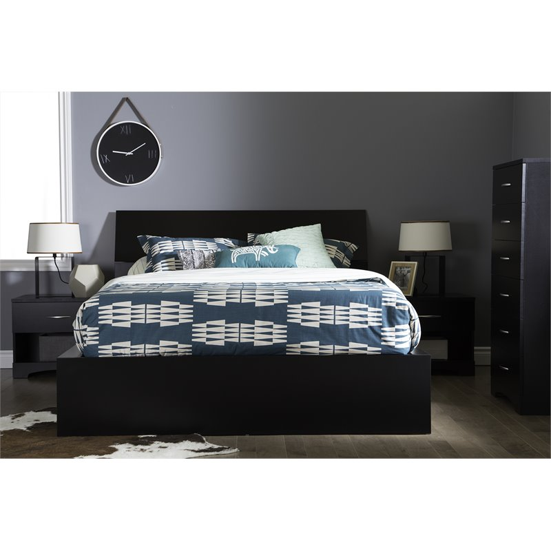 "South Shore SoHo Ottoman Queen Storage Bed (60""), Multiple Finishes"