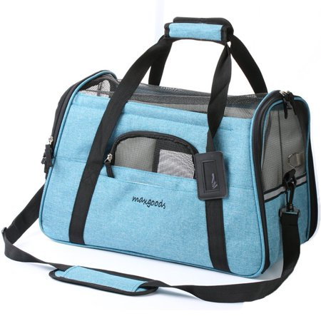 Maxgoods Pet Travel Carrier  Airline Approved Soft Sided Pet Portable Bag With Fleece Pet Mat For Dogs Cats Puppies