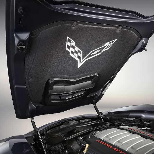 C7 Corvette Stingray/Z06/Grand Sport 2014+ Crossflags Hoo...