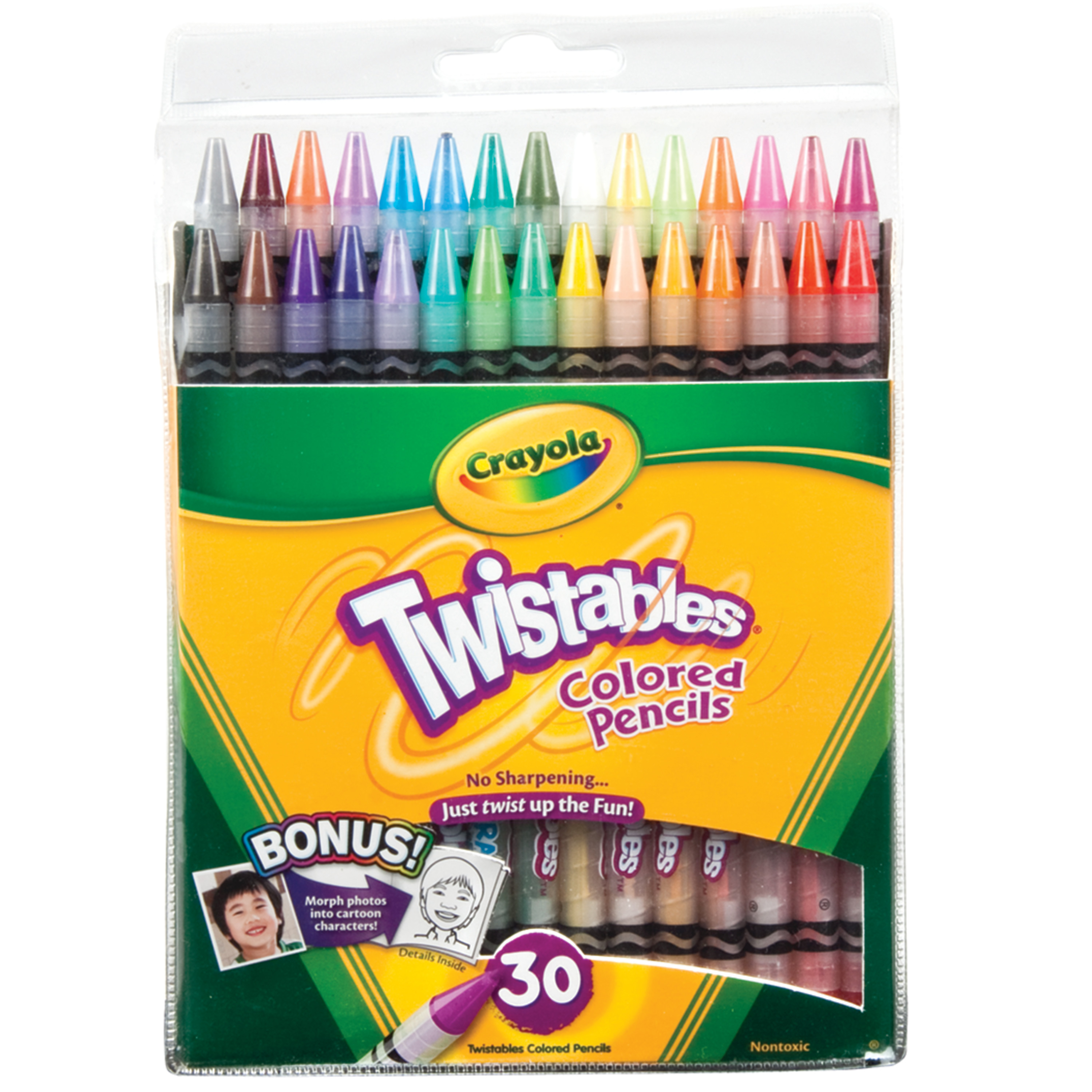 Crayola Twistables Colored Pencil Set, 30 Colors
