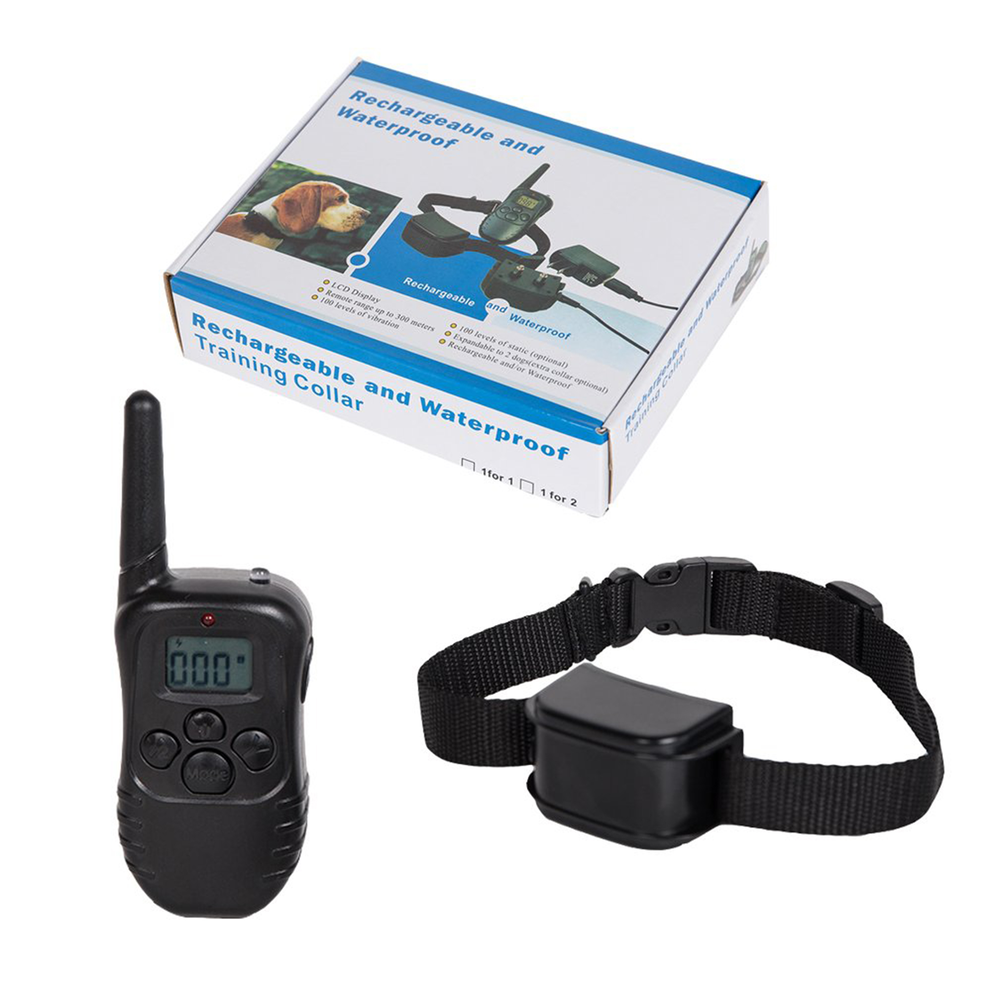 KARMAS PRODUCT Dog Training Collar with Beep, Vibration and Shock, 300 Yards Range Remote, Rechargeable and Waterproof