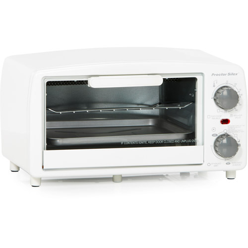 white toaster oven proctor silex large 4 slice toaster oven broiler with bake 10062