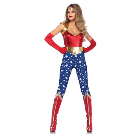 Leg Avenue Sensational Super Hero Adult Womens Costume (Woman Superhero Costumes)