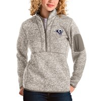 Los Angeles Rams Antigua Women's Fortune Half-Zip Pullover Jacket - Oatmeal