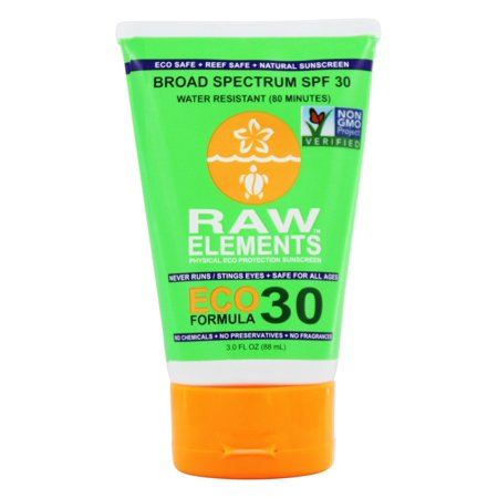 Raw Elements Eco Form Sunscreen - Spf 30 Plus - 3 Oz