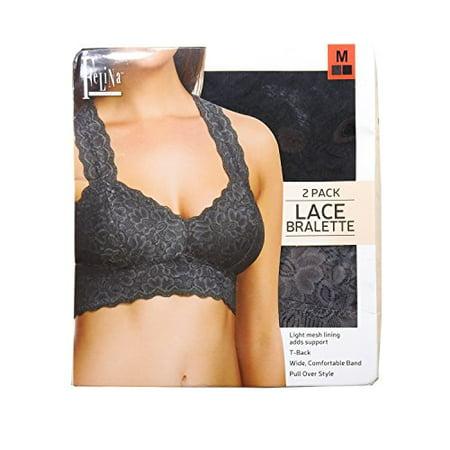 98e44a77c7 Felina - Felina Lingerie Women s Size Medium 2-Pack Lace Bralette ...