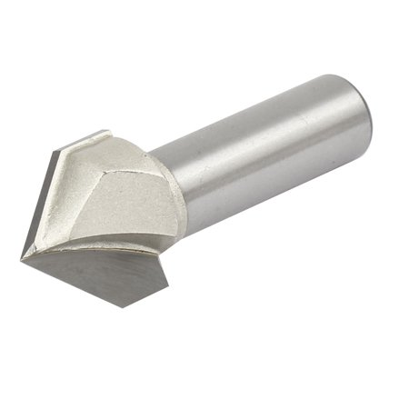 1/2-inch Shank 7/8-inch Cutting Dia 90 Degree V-Grooving Chamfer Router Bit - image 2 de 4