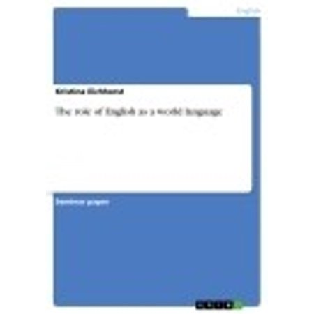 The role of English as a world language - eBook