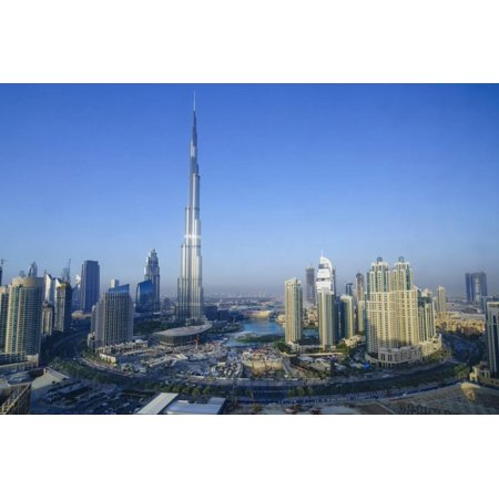 Burj Khalifa and Surrounding Downtown Skyscrapers, Dubai, United Arab Emirates, Middle East Print Wall Art By Fraser Hall