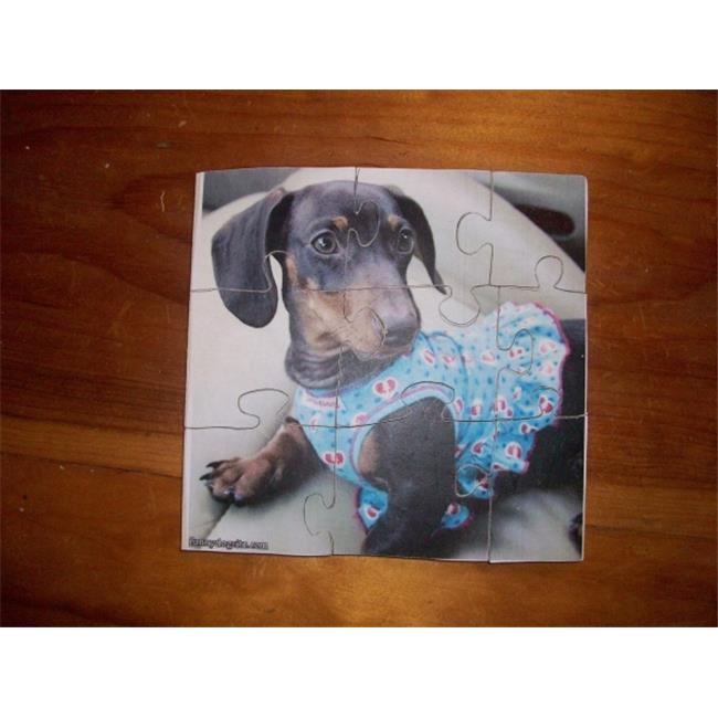 Fine Crafts 243ANI Wooden hand made chihua dog jigsaw puzzle