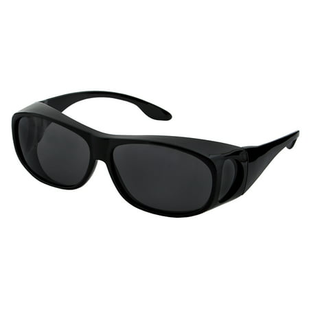 LensCovers Wear Over Polarized Sunglasses- Medium