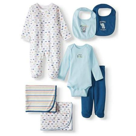 Garanimals Newborn Baby Boy Clothes Baby Shower Gift Set, 7-Piece