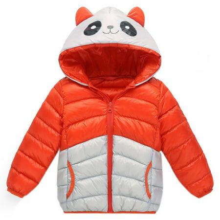 e1da46f0eef611 Mosunx® - Mosunx® Baby Girls Boys Kids Panda Hooded Down Jacket ...