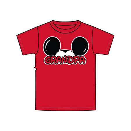 Disney Plus Size Mickey Ears Grandpa Family 2XL - Disney Size Chart