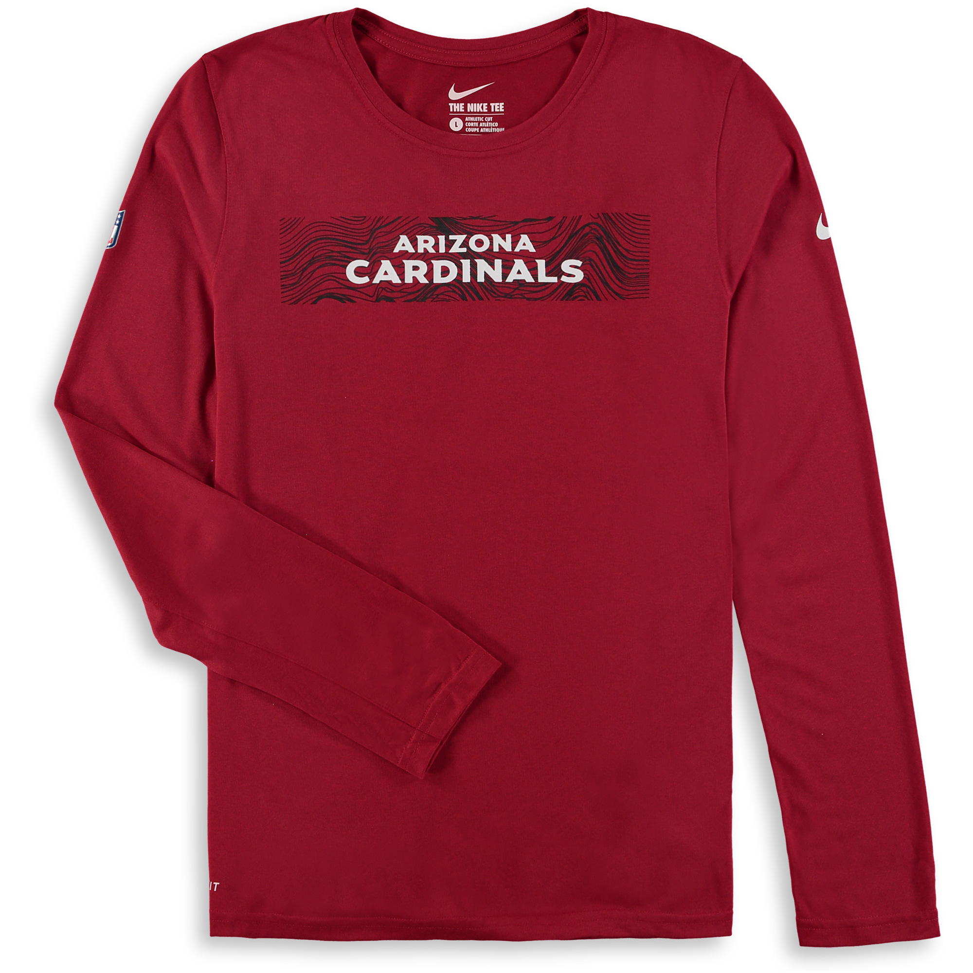 Arizona Cardinals Nike Youth Onfield Seismic Long Sleeve T-Shirt - Cardinal