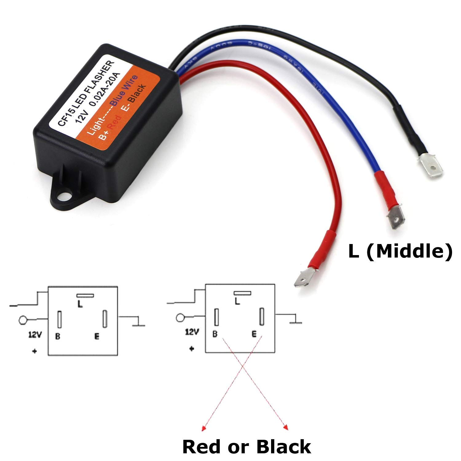 iJDMTOY 40 40 Pin CF4040/CF404 Interchangeable CF405 Electronic LED Flasher  Relay For LED Related Turn Signal Bulbs Hyper Flash Fix   Walmart.com