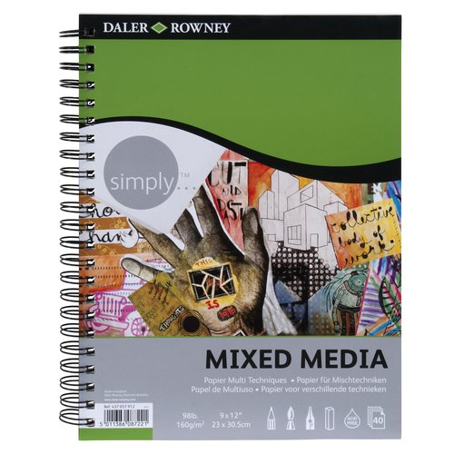 "Simply Mixed Media Books, 9"" x 12"""
