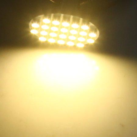 6pcs 24 LED Ampoule Lampe Tableau Bord Panneau 12V G4 Blanc Chaud - image 2 de 3