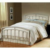 Hillsdale Claudia Bed in Matte Nickel-Full