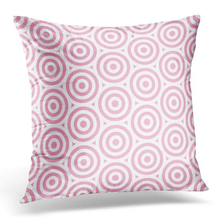 ECCOT Sweet Pattern Stripe Pink and White Colors Valentine Circle Abstract Bubble Pillowcase Pillow Cover Cushion Case 20x20 inch (Pink Stripe Bubble)