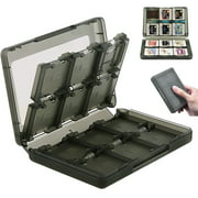 TSV 28-in-1 Game Card Case for Nintendo NEW 3DS / 3DS / DSi / DSi XL / DSi LL / DS / DS Lite Cartridge Storage Solution Box, Black