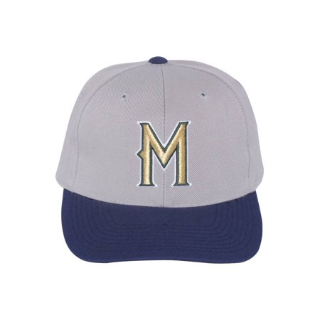 Milwaukee Brewers MLB Adjustable Hook and Loop Closure Strap Classic Hat - Grey - image 2 de 2