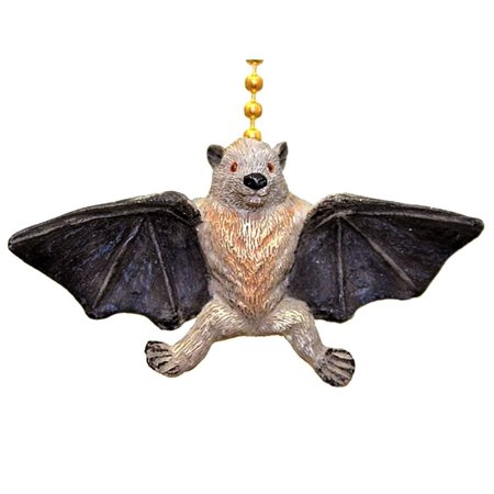 Winged Vampire Fruit Bat Megabat Ceiling Fan Light Pull, Approximately 2 inches By Clementine Designs