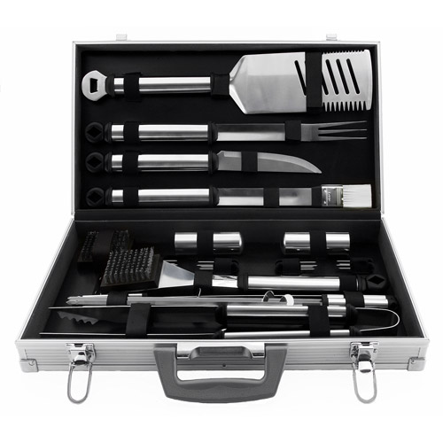 21-Piece BBQ Grill Tool Set, Aluminum Case