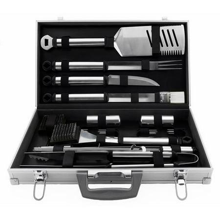 21 Piece Bbq Grill Tool Set  Aluminum Case