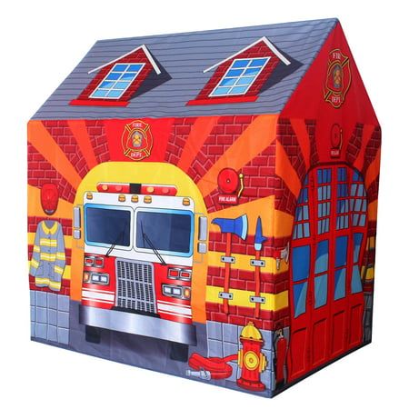 POCO DIVO Fire Station Play Tent Kids Pretend (Train Station Tent)