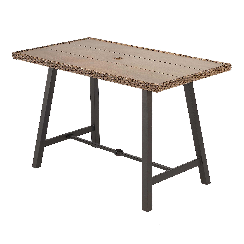 Better Homes & Gardens Westcliffe Rectangular Patio Bar-Height Table