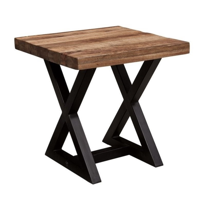 Bowery Hill Square End Table in Light Brown